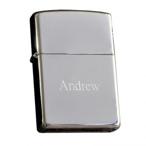 Personalized Polished Chrome Zippo® Lighter