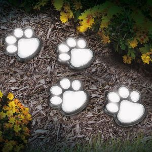 Solar Paw-Print Lights