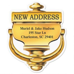New Home Diecut Address Labels