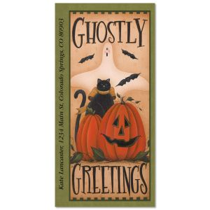 Ghostly Greetings Oversized Address Labels