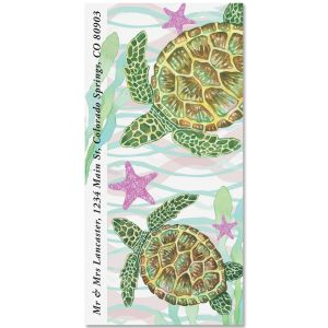Sea Turtles Oversized Address Labels