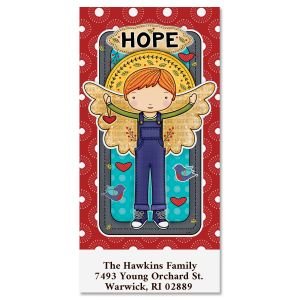 Hope Angel Oversized Address Labels