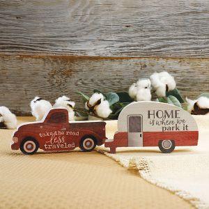 Red Truck & Camper Deco