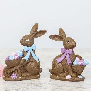 Chocolate-Look Rabbit Decorations