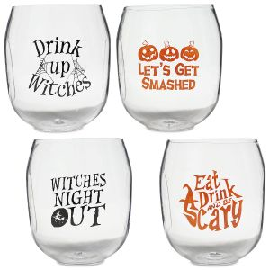 Unbreakable Halloween Wine Glasses