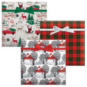 Country Christmas Plaid/Holiday Lodge/Country Christmas Jumbo Rolled Gift Wrap