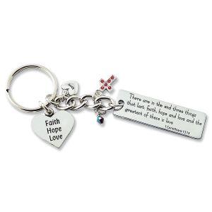 Faith Hope Love Key Chain