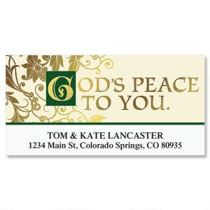 Irish Christmas Deluxe Address Labels