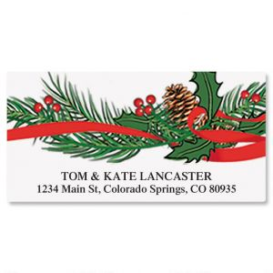 Holiday Holly Deluxe Address Labels