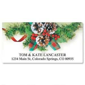 Natural Plaid Deluxe Address Labels