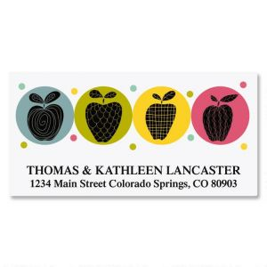 Geometric Apples Deluxe Address Labels