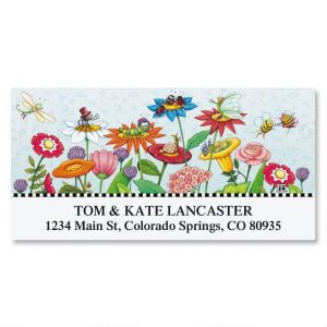 Mary's Garden of Bloom Deluxe Address Labels