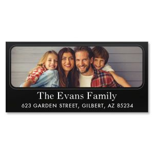Modern Deluxe Photo Personalized Address Labels