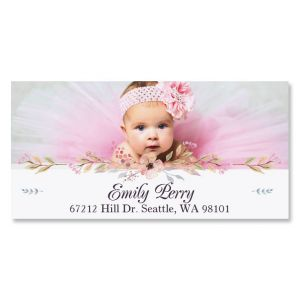Floral Deluxe Photo Address Label
