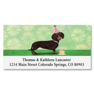 Birthday Hotdog Deluxe Address Labels