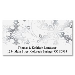 Snow Swirls Deluxe Address Labels