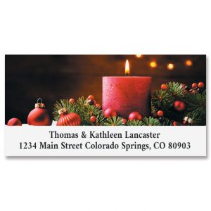 Christmas Candle Deluxe Address Labels