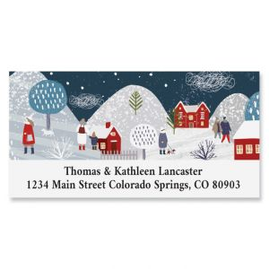 Winter Village Deluxe Address Label