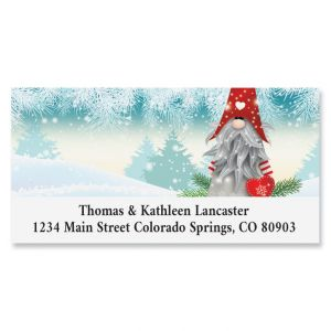 Snowy Elf Deluxe Address Label