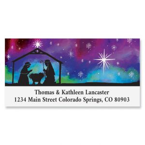 Manger Silhouette Deluxe Address Labels