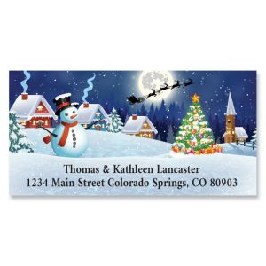Christmas Night Deluxe Address Labels