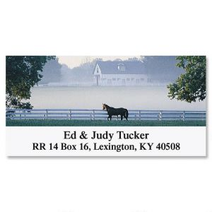 Morning Mist Deluxe Address Labels