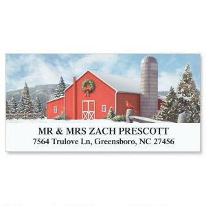 On A Winter Day Deluxe Address Labels