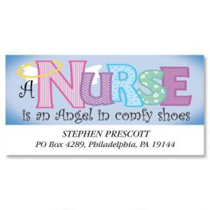 Nurse Angel Deluxe Address Labels
