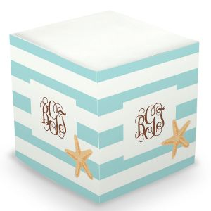 Personalized Starfish Sticky Memo Cube