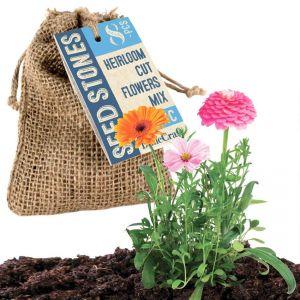 Heirloom Cut Flowers Mix Seed Stones