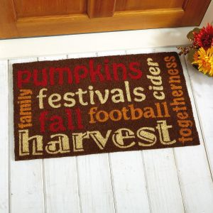 Autumn Words Coir Doormat