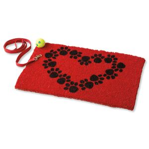 Heart and Paws Doormat