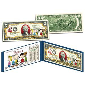 Peanuts 2 Dollar Bill