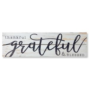 Thankful, Grateful, and Blessed Plaque