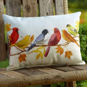 Flocked Together In The Fall Pillow