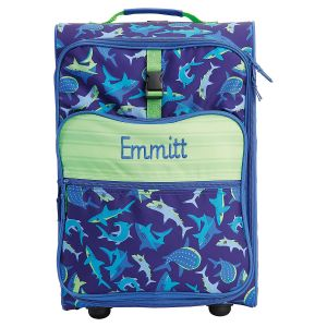 "All-Over Shark Print 22"" Rolling Luggage by Stephen Joseph®"