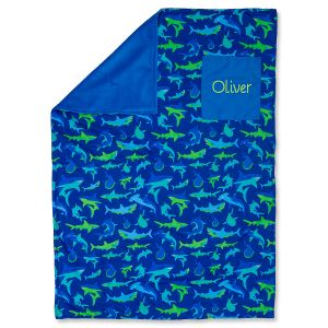 Personalized Toddler-Size Shark Blanket by Stephen Joseph®