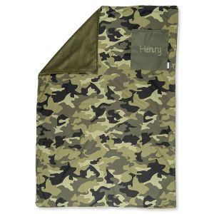 All-Over Camo Print Personalized Blanket by Stephen Joseph®