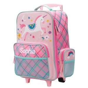 "Pink Unicorn 18"" Personalized Rolling Luggage by Stephen Joseph®"
