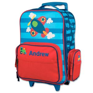 """Airplane 18"""" Personalized Rolling Luggage by Stephen Joseph®"""