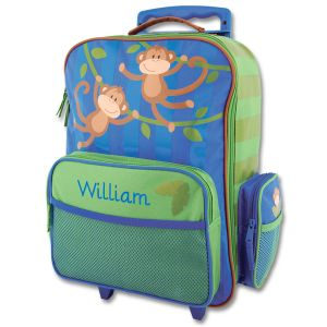 "Monkey 18"" Personalized Rolling Luggage by Stephen Joseph®"