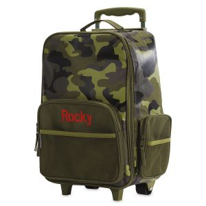 "Green Camo 18"" Rolling Luggage by Stephen Joseph®"