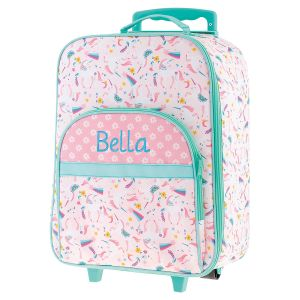 "All-Over Unicorn 18"" Personalized Rolling Luggage by Stephen Joseph®"
