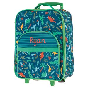 "All-Over Dino 18"" Personalized Rolling Luggage by Stephen Joseph®"
