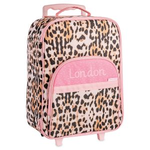 Pink Leopard Personalized Rolling Luggage