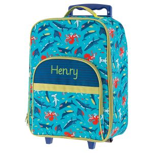 "All-Over Shark 18"" Personalized Rolling Luggage by Stephen Joseph®"