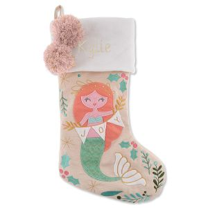 Personalized Embroidered Mermaid Stocking by Stephen Joseph®