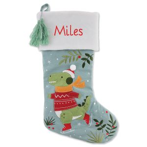 Personalized Embroidered Dino Stocking by Stephen Joseph®