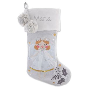 Personalized Embroidered Angel Blonde Hair Stocking by Stephen Joseph®