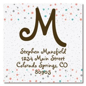 Polka Dots Large Square Address Labels